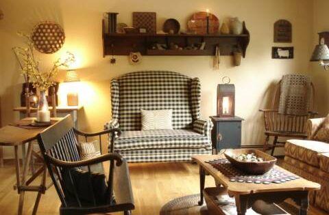 A Primitive Place Primitive Colonial Inpired Living Rooms Primitive Livingroom Pinterest