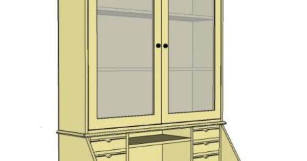 Secretary desk 1 3 top hutch with doors why pay for for Fenetre 30 x 30