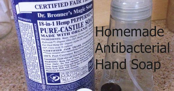 Homemade Antibacterial Hand Soap With Essentialoils