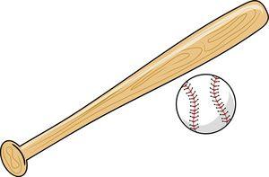 Baseball And Bat Clipart Image Clip Art Illustration Of A Baseball Bat And Baseball Baseball Bat Baseball Scoreboard Espn Baseball