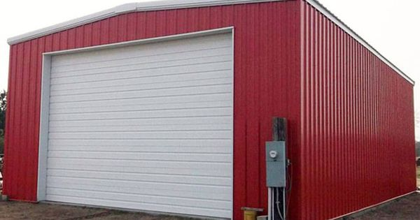 Garage 30 X 50 Crimson Red Closed Jpg 960 672