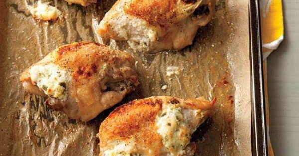 Rachel Ray's Jalapeno Popper Baked Chicken.... Sounds yum!