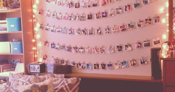 Want a Polaroid and set up the photos on a wall for