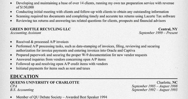 12 Tax Preparer Resume Sample