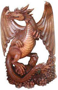 Bali Dragon Wood Carving Arte Em Madeira Pirografia Dragoes