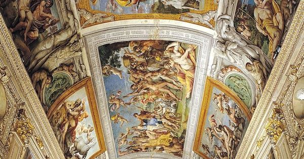 Caracci loves of the gods illusionistic ceiling