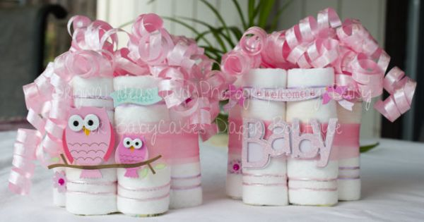 Owl Baby Shower Centerpiece Pair on Etsy, $35.00