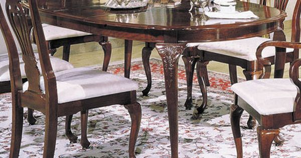 Acme Queen Anne Centennial Oval Dining Table In Cherry 02922