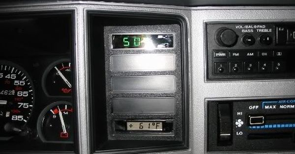 Mercedes Ambient Temp Display In An 91 Xj Mj Clock Jeep Cherokee