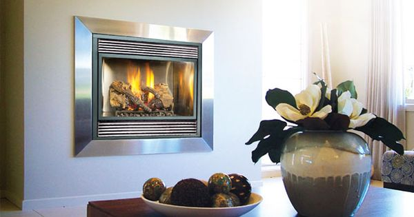Travis industries 564 space saver fireplace great for Small den with fireplace