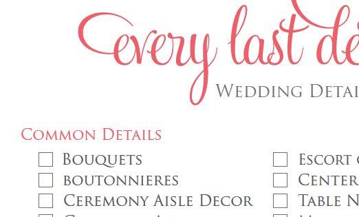 Boda, Lista de verificación de la boda and Detalles para bodas on ...