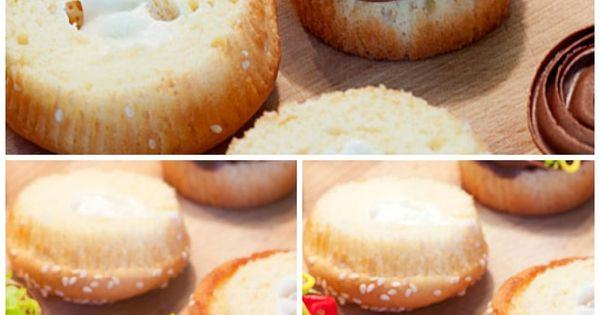 Juicy Lucy Burger Cupcakes | Recipe | Burger cupcakes and ...
