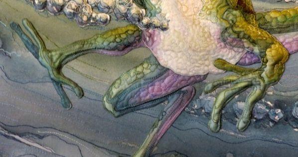 WOW!!! Amazing Quilt by Annemieke Mein, amazing wildlife artist in textiles. I