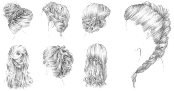 Bars à coiffures 365c Drawing hairstyles and Drawing hair