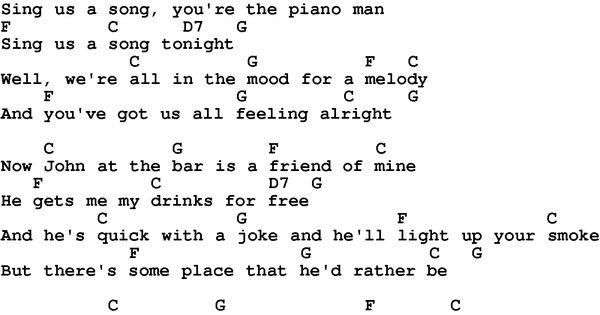 love song lyrics for piano man billy joel with chords for ukulele guitar banjo etc guitar. Black Bedroom Furniture Sets. Home Design Ideas