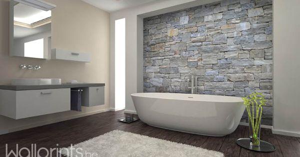 Fotobehang voor je badkamer badkamers pinterest fotobehang badkamer en natuursteen - Idee outs semi open keuken ...