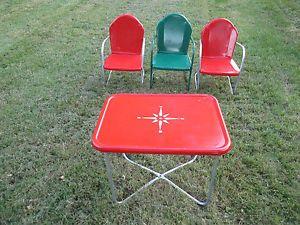Vintage Metal Rockers Vintage Metal Lawn Chairs Patio Chairs