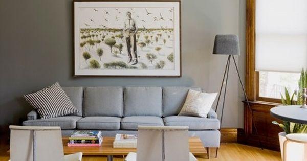 Grey Walls With Natural Wood Trim Grey Walls Living Room Living Room Wood Floor Grey Wood Floors Living Room