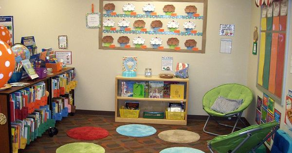Class library or kids reading center = Bath mats. Why didn't I