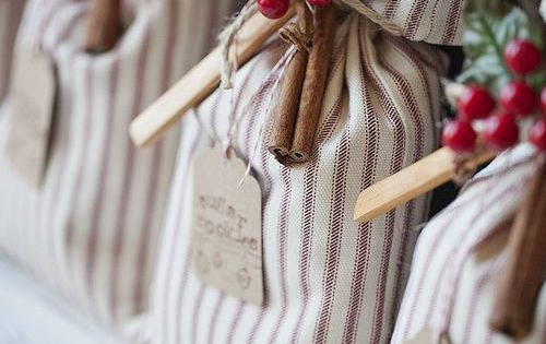 Handcrafted Christmas Cookie Mix Sack - So cute! Cookie exchange!!