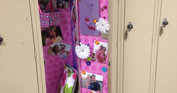 Decorate your locker! just cut the wrapping paper to fit