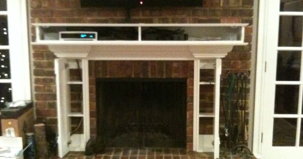 Fireplace With Built In Cabinets For Tv Components