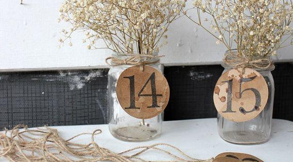 antiqued table kraft paper numbers . 15 rustic woodland wedding table numbers
