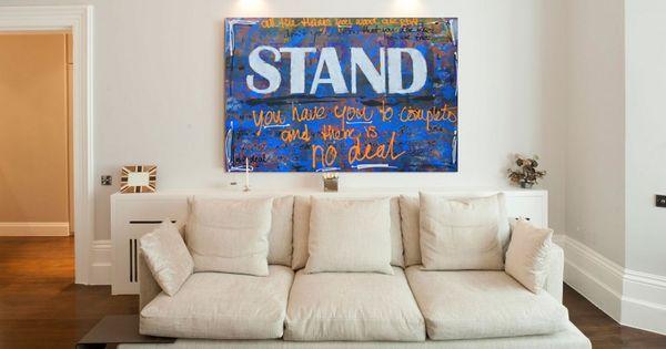 Schilderij met tekst daniel pinterest met - Sofa stijl jaar ...