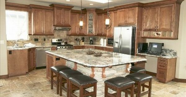 Long kitchen islands with seating large kitchen island for O kitchen city of dreams