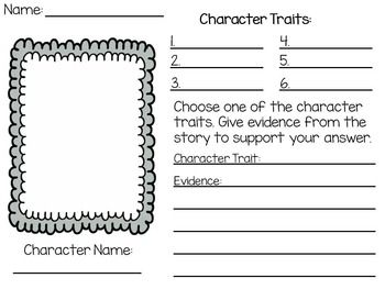 Character Traits Worksheet Printable | Teaching Ideas ...