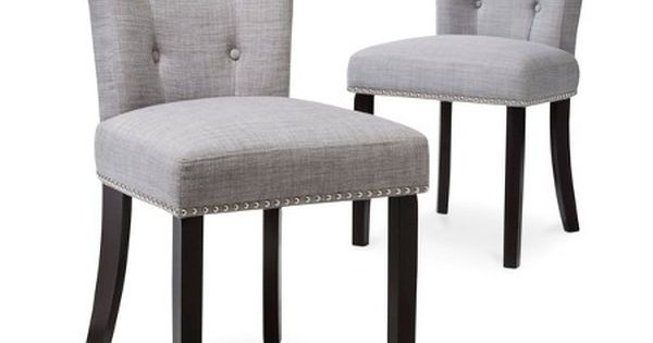 Scrollback with Nailhead Dining Chair Dolphin Gray Set  : 27a389a158f422678b54d35c3c9c86ef from in.pinterest.com size 600 x 315 jpeg 17kB