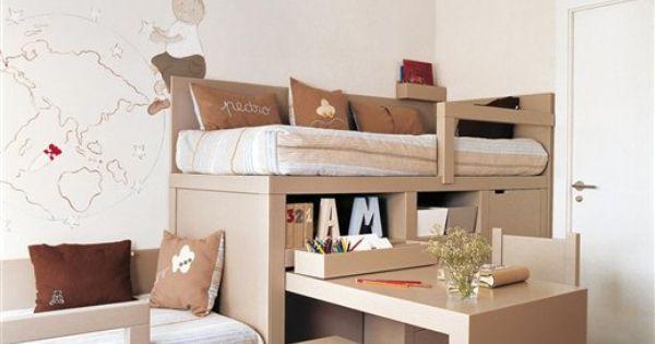 30 habitaciones para dos o m s ni os - Habitacion pequena para dos ninos ...