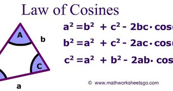 Law Of Sines And Cosines Worksheet With Key Pdf Law Of Cosines Law Of Sines Trigonometry Law of sines worksheet answers