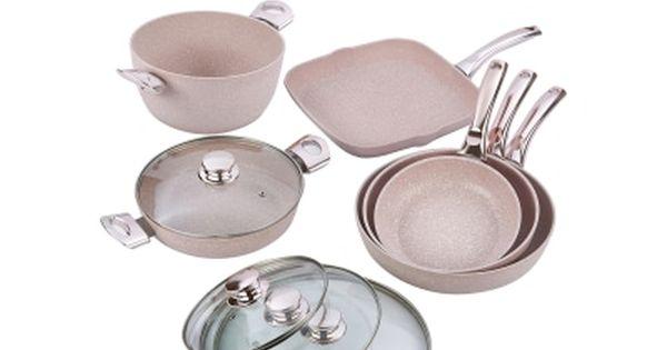 Bateria De Cocina Stonerose Oro Rosa 10 Piezas Cocinas