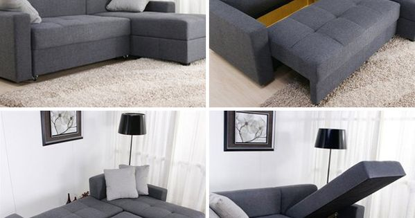 Convertible sectional sofa AND storage. Small Space Solutions: 12 Cool Pieces of