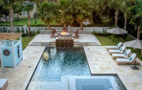 Balfoort Architecture in Florida. Pool and Firepit love love love love LOVE!