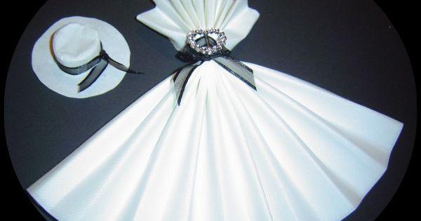 serviette la robe de marylin pliage serviette pinterest wedding robes and napkins. Black Bedroom Furniture Sets. Home Design Ideas