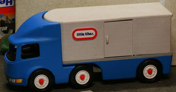 Vintage Little Tikes Semi Blue Semi Truck Retired Ride On