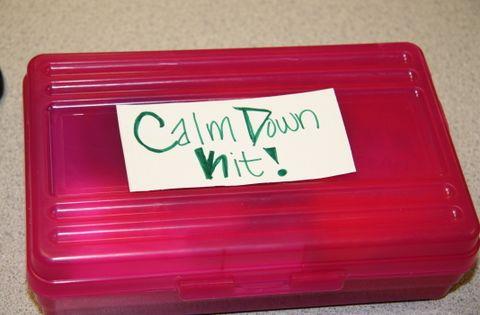 Calm Down Box - lots of good ideas