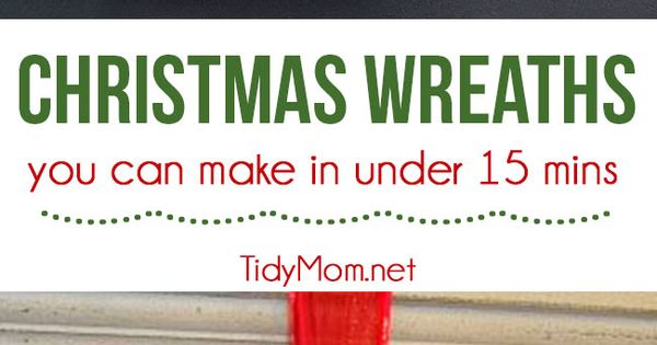 Christmas Wreath You Can Make In Under 15 Minutes
