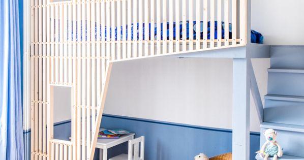 Cabane de chambre d 39 enfant mezzanine design bois for Chambre des architectes