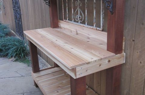 Supposed to be a potting table - would be nice as a