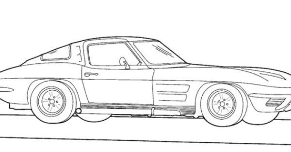 corvette 1983 coloring page