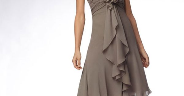 Sweetheart chiffon bridesmaid dress with empire waist... I want chiffon dress and