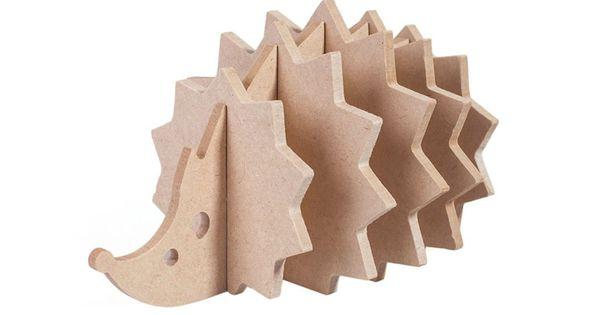 Cute Wood Coasters Hedgehog Shaped Set