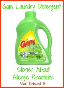 Gain Laundry Detergent Allergy Experiences Shared By Readers Best Laundry Detergent Gain Laundry Detergent Gain Laundry