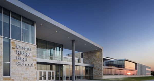Rrisd Cedar Ridge High Schoolkah Architecture And Interior Design Round Rock Tx Kah Architecture And I School Building Design Building Design Architecture