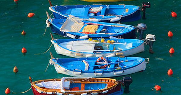 Cinque Terre National Park, Italy ~ UNESCO World Heritage Site ~ boats