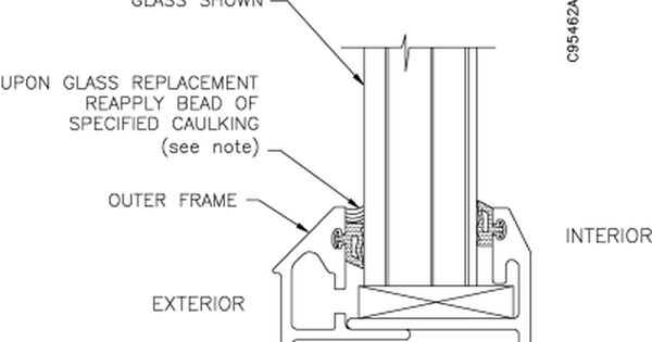 Tp 821324 001c 234 Series Pre Assembled Fixed Window Installation And Parts Manual Window Installation Window Detail Installation