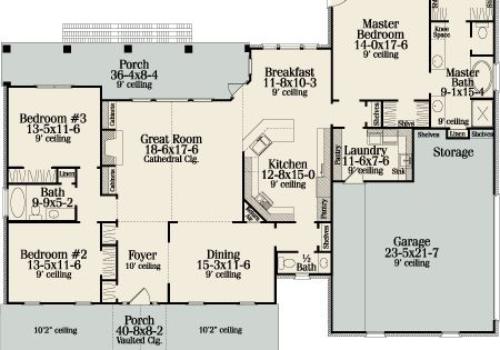 First Floor Plan Image Of Featured House Plan Bhg 4659